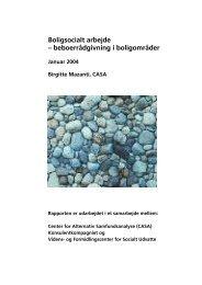 Boligsocialt arbejde - Center for Alternativ Samfundsanalyse