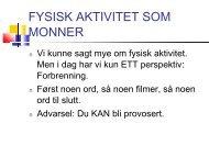 Fedme og fysisk aktivitet YES - Sykehuset Telemark