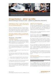 Amagerbanken – aktier og indlån - Beierholm