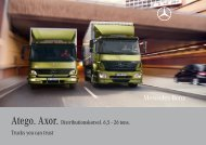 Atego. Axor. Distributionskørsel. 6,5 – 26 tons ... - P. Christensen