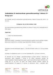 First North meddelelse nr. 115-2013 - Athena