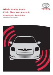 Vehicle Security System VSS3 - Alarm system remote - Toyota-tech.eu