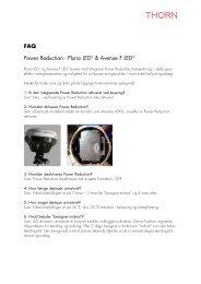 FAQ Power Reduction - Plurio LED2 & Avenue F LED2 - Thorn