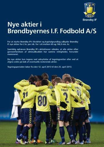Nye aktier i Brøndbyernes I.F. Fodbold A/S - Brondby.com