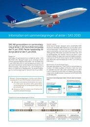 Information om sammenlægningen af aktier i SAS 2010 - SAS Group