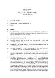 Forslag til vedtægter - Scandinavian Properties A/S