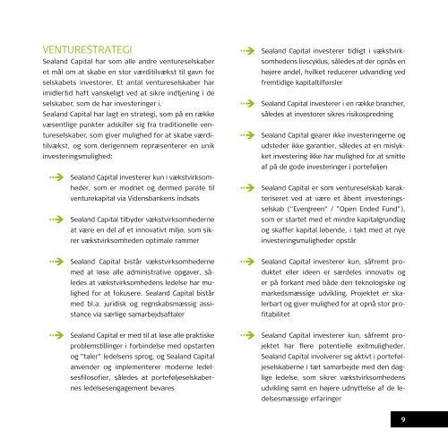 ventureselskabet sealand capital a/s - Velkommen til Business ...