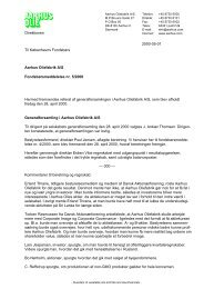 Til Københavns Fondsbørs Aarhus Oliefabrik A/S ... - AAK