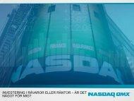 Introduktion - NASDAQ OMX Nordic