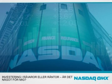 Introduktion - NASDAQ OMX Nordic