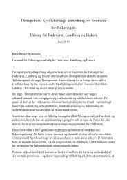 Thorupstrand Kystfiskerlaugs anmodning om foretræde for ...