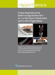rapport 2012:3 - Nasjonalt folkehelseinstitutt