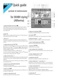 Daikin Altherma EKHBH Quick guide