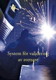 System för validering av svetsare - Svetskommissionen