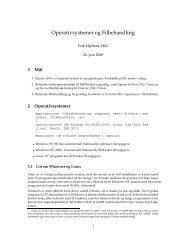 Operativsystemer og Filbehandling - Ansatt.hig.no