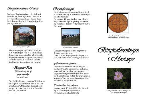 Birgittaforeningens folder - Mariager Kirke