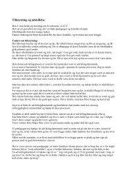 Tilknytning og adskillelse - Susannes hjemmeside, brikker fra mit liv ...