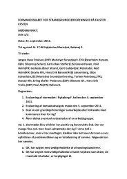 Referat af møde i Formandskabet den 23 ... - Marielyst Strand