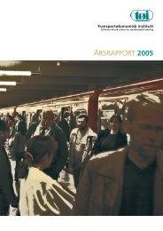 ÅRSRAPPORT 2005 - Transportøkonomisk institutt