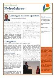 DOWNLOAD: Nyhedsbrev no. 9 - Hospice Djursland