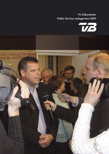 Public Service redegørelse 2005 - TV2 Bornholm