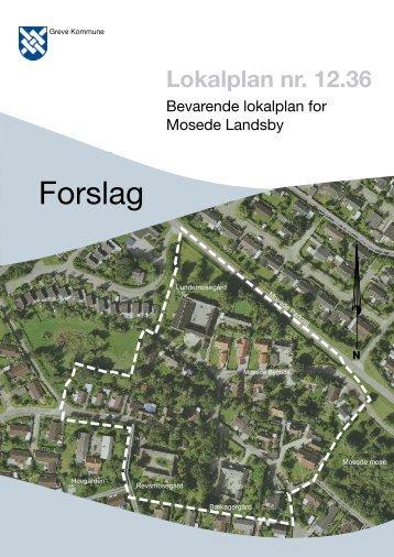 Forslag til lokalplan nr. 12.36 - Greve Kommune