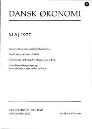 Dansk økonomi, maj 1977 - De Økonomiske Råd