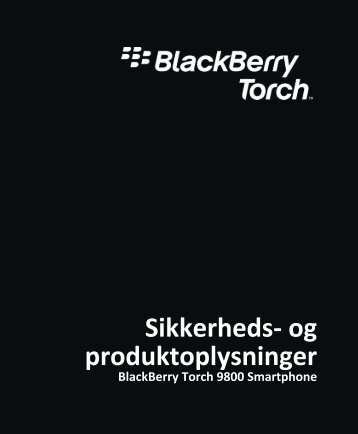 BlackBerry Torch 9800 Smartphone - The CFReDS Project