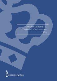 STATISTISKE BERETNING 2006 - Beredskabsstyrelsen