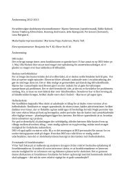 Skolebestyrelsens årsberetning 2012-2013 - Mou Skole