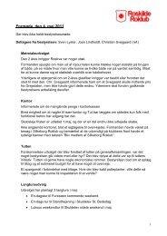 Se referatet fra mødet den 5. maj 2011 - Roskilde Roklub