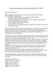 Referat af forældrebestyrelsesmøde torsdag d.25/10 2007.
