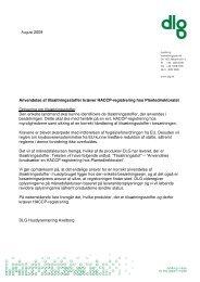 Anvendelse af tilsætningsstoffer kræver HACCP-registrering ... - dlg