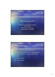 Nyresygdomme Klinisk nefrologi - Region Syddanmark