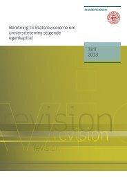Beretning om universiteternes stigende egenkapital - Rigsrevisionen