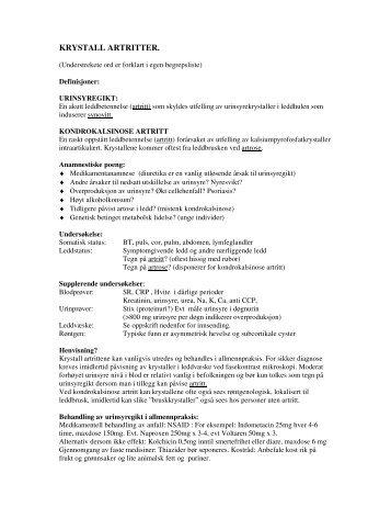 Krystall artritter (27KB)