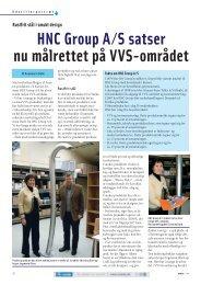 HNC Group A/S satser nu målrettet på VVS-området - Techmedia