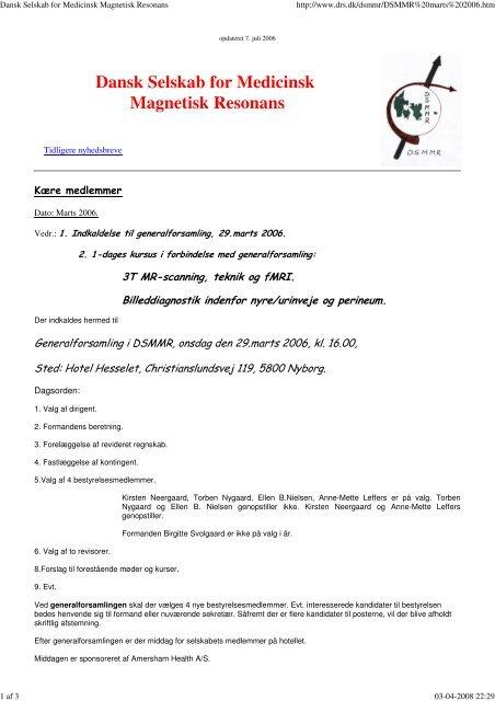 Dansk Selskab for Medicinsk Magnetisk Resonans