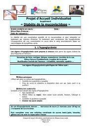 Scolarité et diabète - Centre de Référence Maladies Rares ...