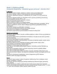 Modul 1.3: Hjertet, respirationsorganserne og nyre/urinveje I (2012)
