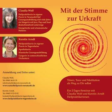 Mit der Stimme zur Urkraft - Kerstin Arndt