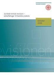 Juridisk-kritisk revision - Rigsrevisionen