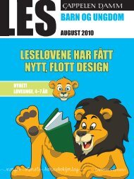 LESELØVENE HAR FÅTT NYTT, FLOTT DESIGN - Cappelen Damm