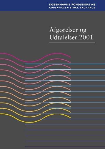 Afgørelser og Udtalelser 2001 - Nasdaq OMX