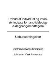 Udbudsbetingelser - Vesthimmerlands Kommune