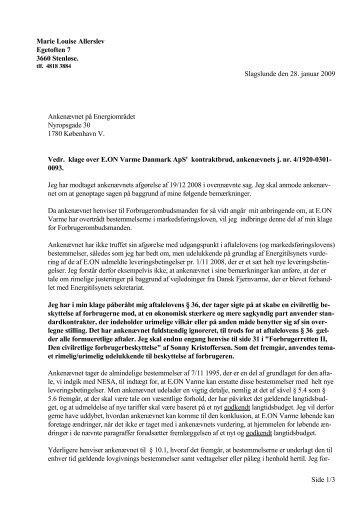 MLAs Anmodning om genoptagelse -- 28. januar 2009 - Slagslunde ...