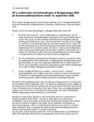 SF's ordførertale ved behandlingen af Budgetoplæg ... - SF-Herlev