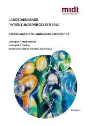 Urologisk Ambulatorium - CFK Folkesundhed og Kvalitetsudvikling ...