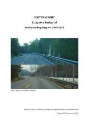 Sluttrapport utsiktsrydding hovedprosjekt - Buskerud Fylkeskommune