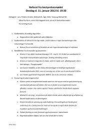 Referat fra bestyrelsesmødet Onsdag d. 11. januar 2012 kl. 19:30